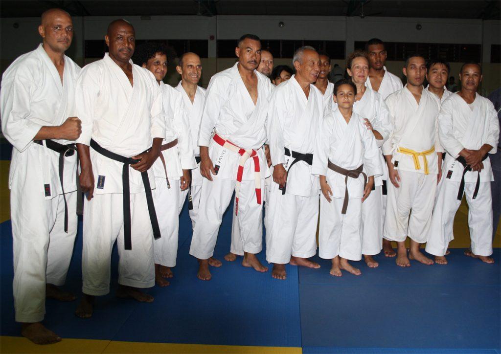 15 membres du SKC Bois de Nèfles présents au stage